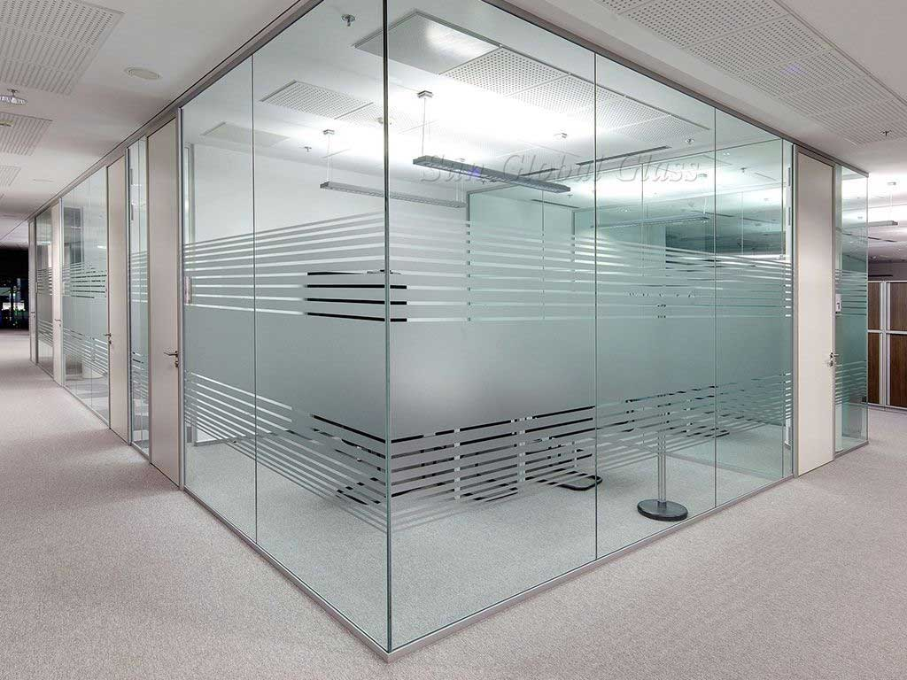 Frameless Glass Partition Frosted